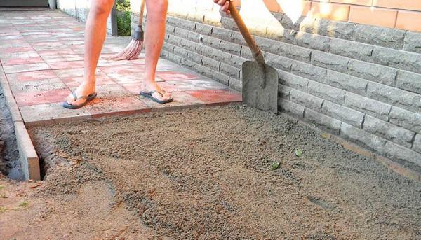 Подготовительные работы перед укладкой тротуарной плитки